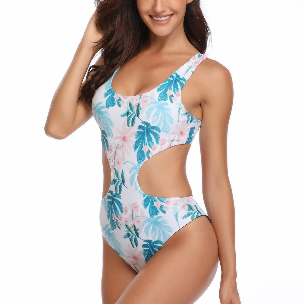... 🩱 Floral Print Double Sided Reversible Women Swimsuit 3cb18eb1849
